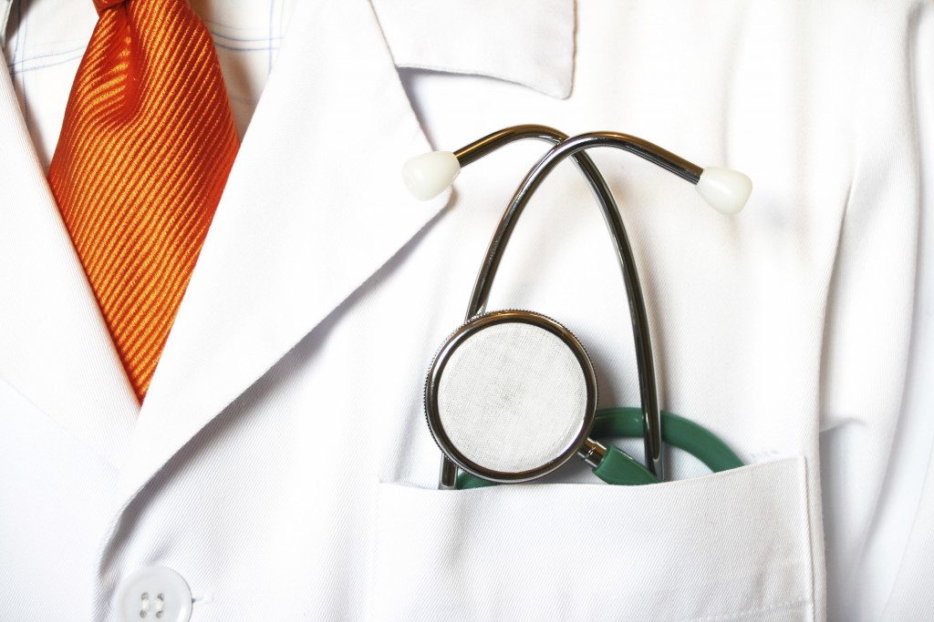 Doctor prepared to examine the patient